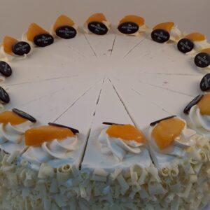 peach gateaux - handmade wholesale cakemakers by Patisserie Box