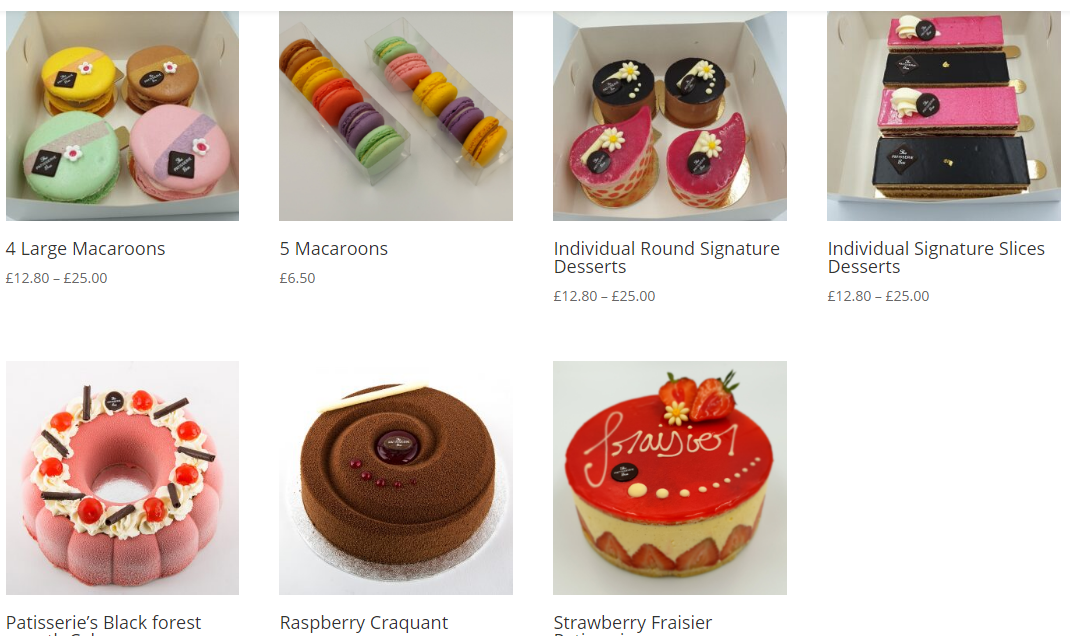 New Online Patisserie Shop in Cheltenham